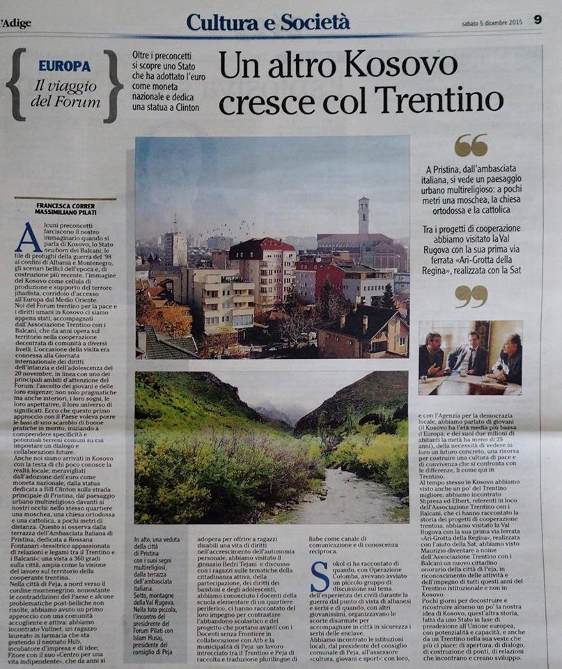 L'Adige5_12_15AltroKosovoForumpace