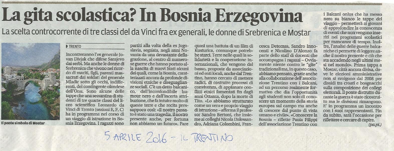 articolo Il Trentino BiH _ Davinci